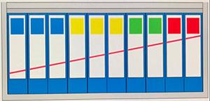 ファイルに斜めのライン